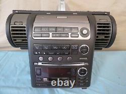 03-04 Infiniti G35 CD Radio Tape Player Climate Control Panel Bezel Vents OEM