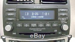 05 06 07 08 ACURA TSX Radio Stereo 6 Disc Changer CD Player 7HP0 Climate Control