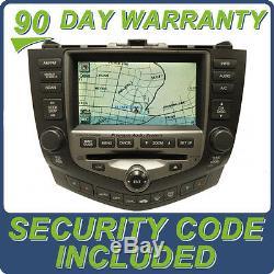 06 07 HONDA Accord GPS Navigation System XM Radio 6 Disc Changer CD Player 2GY3