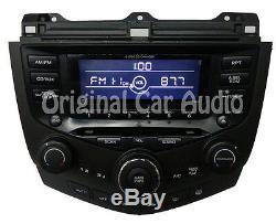 2003 HONDA Accord Sedan 6 Disc Changer CD Player Radio Stereo 7BK0 Climate EXL