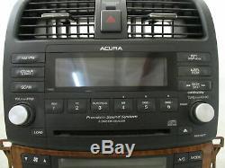 2006 Acura TSX Radio Receiver XM Satellite 6 Disc Changer CD Player 7HR0 OEM LKQ