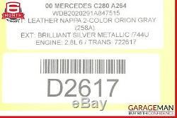 98-03 Mercedes W202 C280 SL500 CD Changer 6 Disk Player with Magazine MC3198 OEM