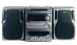 Aiwa Stereo CX-NA303U 3 CD Disc Changer Duel Cassette Player No Remote Works