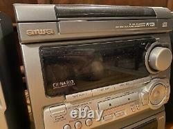 Aiwa Stereo CX-NA303U 3 CD Disc Changer and Duel Cassette Player with Remote