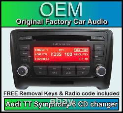 Audi TT 6 CD player stereo with radio code Symphony CD DISC changer headunit