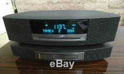 BOSE WAVE RADIO CD AM/FM MULTI DISC CD PLAYER CHANGER With REMOTE CONTROL & MANUAL