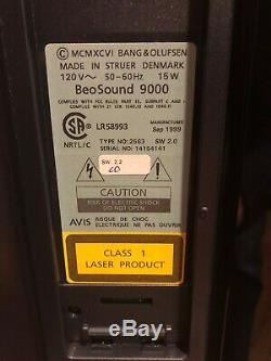 Bang & Olufsen BEOSOUND 9000 MK2 6 Disc CD Changer Player PARTS REPAIR No Stand