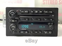 GM739B 02-05 GMC CHEVY Envoy Trailblazer BOSE Radio 6 Disc Changer CD Player