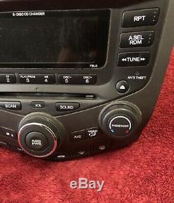 Honda Accord 2003-2007 OEM Radio 6 Disc Changer CD Player 7BL0 EX LX Sedan