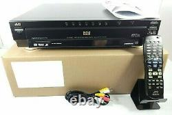 JVC 7 Disc DVD CD Player Changer Surround Sound with Remote XV-FA900BK TESTED