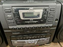 JVC PC-XC70 Stereo System Boombox 10 Disc CD Changer & 2 Cassette Player Tested