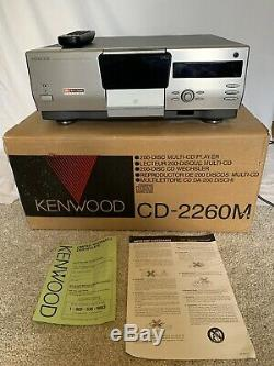 Kenwood 200-Compact Disc Multiple CD Player Changer CD-2260M With Remote And Box