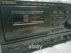 MINT TEAC Tape player recorder 3 disc CD player changer Model AD 600