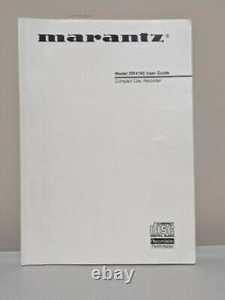 Marantz CD Player And Recorder 3 Disc Changer With Remote and User Guide Tested