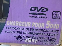 NEW JVC FS-S77B 5 Disc DVD CD Player Changer Micro system AM FM tuner FS-S77