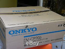 NEW Onkyo DV-CP706 Six / 6 DVD CD Disc Player Changer BLACK HDMI 1080p output