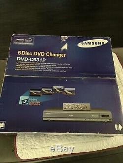 NEW Samsung DVD-C631P 5 Disc Progressive Scan DVD CD Carousel Player Changer