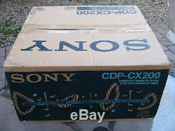 NEW Sony CDP-CX200 Compact Disc Player 200 CD Mega Storage changer