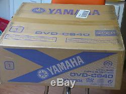 NEW Yamaha DVD-C940 / 5 disc DVD changer Player progressive scan Super Audio CD
