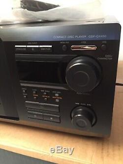 New Open Box Sony CDP-CX450 400-disc CD changer/ player with Remote