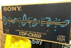 New Sony CDP-CX400 400 Disc CD Player / Changer in Sealed Box