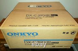 New in box Onkyo DX-C390(B) 6-Disc CD Player Changer- Black withremote manual