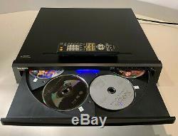 Onkyo DV-CP706 Six-6 DVD/CD Disc Player Changer BLACK HDMI 1080p Tested Working