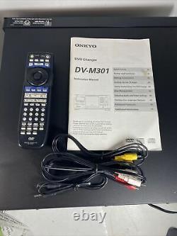 Onkyo DV-M301 301 Disc DVD Changer/player With Remote + Box