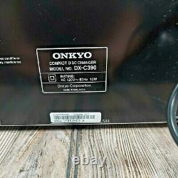 Onkyo DX-C390 6 Disk CD Player Compact Disc Changer Tested/Working (No Remote)