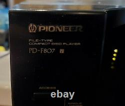 PIONEER PD-F807 101 CD DISC Changer & Player (WORKS GREAT)