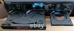 Philips CDR785 3-Disc CD Player/Changer + CD Recorder Dual Deck WORKS GREAT
