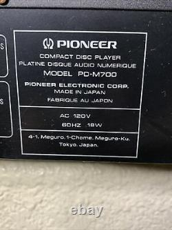 Pioneer CD Player PD-M700 6 Compact Multi-Player Disc Changer RARE! NO Remote