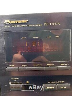 Pioneer PD-F1009 301-Disc CD Player Changer Optical Digital Working Great