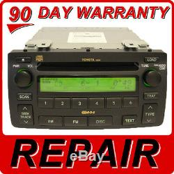 REPAIR SERVICE ONLY Toyota Corolla Radio 6 Disc Changer CD Player JBL OEM Stereo