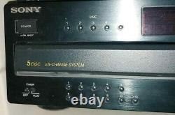 SONY CDP CA-9ES 5-DISC CD CAROUSEL PLAYER CHANGER WithREMOTE. VERY RARE