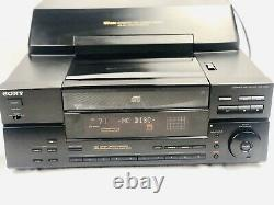 SONY CDP-CX151 CD CHANGER 100 Disc CD Player Tested