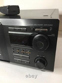SONY CDP-CX450 400 CD CHANGER DISC PLAYER withREMOTE, Tested