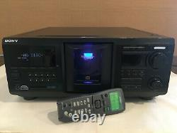 SONY CDP-CX450 400 CD Changer Disc Player Jukebox With Oem Digital Remote New Belt