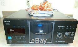 SONY DVP-CX985V 400 Disc Explorer DVD CD Player Mega Changer + Component Cables