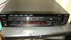 SONY RCD-W222ES 5 Disc CD Changer player Recorder Burner with PDF manual RARE