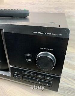 Sony 200 Disc CD Changer Player CDP-CX220 Mega Storage Remote