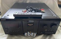 Sony 300 CD Compact Disc Multi Player Carousel Changer CDP-CX355 With Remote WORKS