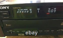 Sony CDP-C701ES 5 Disc Changer CD Player