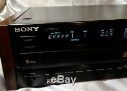 Sony CDP-C701ES CD Player 5 Disc Changer ES DSP Equalizer Reverb w REMOTE