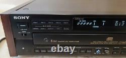 Sony CDP-C79ES 5 Disc CD Carousel Changer Player Compact Disc READ DESCRIP
