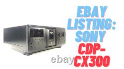 Sony CDP-CX300 300 Disc CD Player Changer TESTED WORKING BELTS GREAT