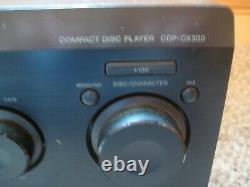 Sony CDP-CX300 Mega Storage 300 CD Compact Disc Changer Player with Remote