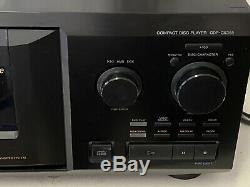 Sony CDP-CX355 300 Disc Changer CD Player Jukebox with Remote Manual & Audio Cable