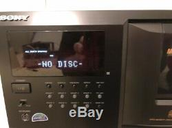 Sony CDP-CX355 CD Changer-300 Disc Player WithRemote and Instructions