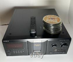 Sony CDP-CX355 Mega Storage Compact Disc 300 CD Changer Player with Remote +CD's